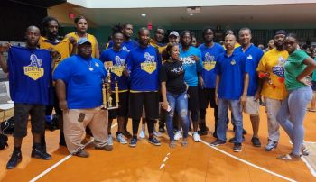 The losing team A's was presented with a first runner's up trophy. Photo: Team of Reporters