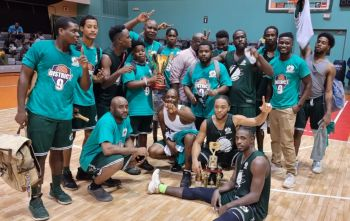 The senior team of the VG Bayside Blazers have been crowned the National Champions in the BVI Basketball Federation's 2021 District League finals played on Friday, October 8, 2021. Photo: Team of Reporters