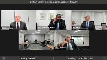 Premier Fahie in his presentation said in the UK, there is documented evidence of poor governance practices and nepotism in the crown and pointed to a House of Commons Public Accounts Committee report on the subject. Photo: CoI/Youtube