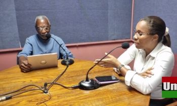 From left: Host Cromwell Smith and guest Shaina M. Smith-Archer on Umoja on August 24, 2021. Photo: Facebook