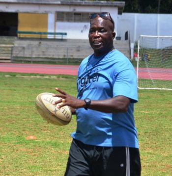 """The VI team also went down 45-0 to Bermuda with what Coach Sherlock """"Solo"""" Solomon (above) described as games littered with poor tackling and missed opportunity. Photo: VINO/File"""