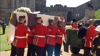 The Duke of Edinburgh was laid to rest at St George's Chapel. Photo: Sky News