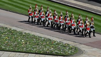 Detachments of service personnel from the military units the duke had a special relationship with were there, as well as troops from the Household Cavalry and the Foot Guards. Photo: AP