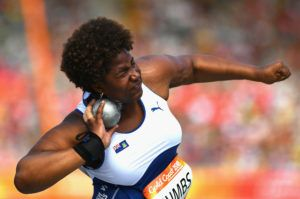 Trevia Gumbs competed in the Women's Shot Put at the Gold Coast 2018 Commonwealth Games Photo: Dan Mullan/Getty Images