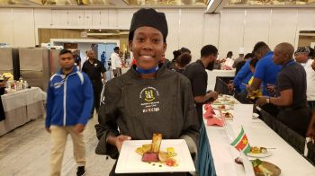 Radiance Modeste captured Bronze in the Junior Chef Competition at the Taste of the Caribbean 2019 event in Miami, Florida. Photo: Team of Reporters