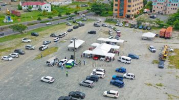 Launching to a massive turnout of vehicles this morning, July 17, 2021, 'Operation Protect Each Other,' the first COVID-19 vaccination drive-through initiative in the Virgin Islands (VI) has winded down Saturday as an overall success, with many persons truing out to get vaccinated for the first time. Photo: GIS