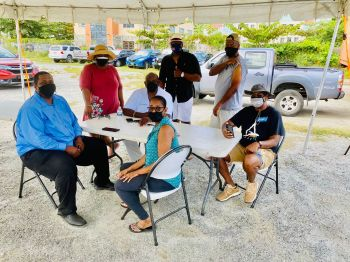 Present at the event was Premier and Minister of Finance, Hon Andrew A. Fahie (R1) along with first lady Mrs Sheila E. Forbes-Fahie and Minister for Health and Social Health Development, Hon Carvin Malone (AL). Photo: Team of Reporters