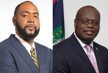 House of Assembly Speaker Hon Julian Willock, right, and the Deputy Speaker of the HoA, Hon Neville A. Smith (AL), left, have objected to the applications of the CoI lawyers to be admitted to the BVI Bar on the basis that the Applicants have been practising law in the Virgin Islands since March 2021, in breach of the Legal Profession Act, 2015. Photo: GIS/File
