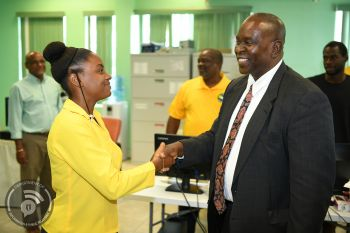 Minister for Health and Social Development Hon Carvin Malone (AL), right, during his message in observance of Nurses Week 2019 on May 6, 2019 said Government is committed to supporting nurses, and providing the resources they need to deliver professional, compassionate, high-quality health services to meet the needs of residents on each island. Photo: GIS/File