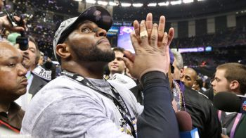 Baltimore Ravens linebacker Ray Lewis, who ended his 17-year career with a second Super Bowl win: