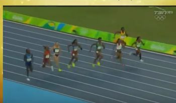 Harrigan-Scott (right) had a brilliant start but was unable to maintain her lead. Photo: Youtube