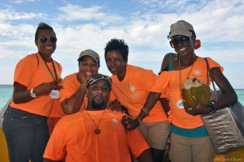 The BVI Tourist Board team that was credited for a job will done. At front is Chairman of the Anegada Lobster Festival Mr Rhodni A. Skelton who spoke of the highs and lows of this year. Photo: BVITB