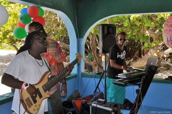 Live music add the need flavour to the two days' activities of Anegada Lobster Fest 2014. Photo: BVITB