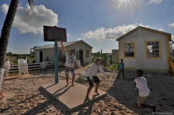 Some fun games also provided for a good social day at Anegada Lobster Fest 2014. Photo: BVITB
