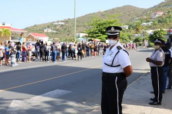 The Black Lives Matter procession making its way to Queen Elizabeth II Park in Road Town, Tortola, on June 20, 2020. Photo: Russel Jones/Facebook