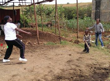 In the midst of it all there was some time set aside for fun with the kids of Kenya. Photo: Provided