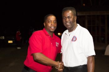 Reverend Melvin A. Turnbull and his son and Second District Representative Hon Melvin 'Mitch' Turnbull. Photo: Facebook