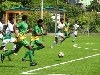 The first leg of the games was played at the National Stadium venue in East End/Long Look and saw Tortola teams emerge victorious. Photo: Cathie Caine
