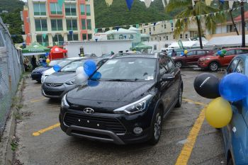 Scotiabank BVI, along with Nagico Insurances, did the honour of introducing TAG to the Virgin Islands with the massive car sales event dubbed 'I love Change' that featured the latest Hyundai vehicles, with TAG being the official dealership for Hyundai vehicles in the Virgin Islands. TAG offered 2016 vehicles for as little as 203 to 400 dollars monthly installments. Photo: Provided