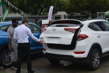 The flagship vehicle of TAG is said to be the 2016 Hyundai Tucson, a mid-sized sports utility wagon which offers comfort and amenities for the driver who cares about not only style and performance but also fuel efficiency. Photo: Provided