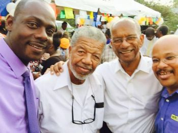 Mr Sean D. Rose (left), alongside radio talk show host and retired civil servant Mr Douglas Wheatley (2nd left) and Premier Dr The Hon D. Orlando Smith (3rd left). Photo: Facebook