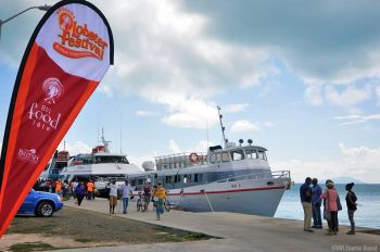 Local and foreign ferries at the Anegada lobster Fest 2014. Photo: BVITB