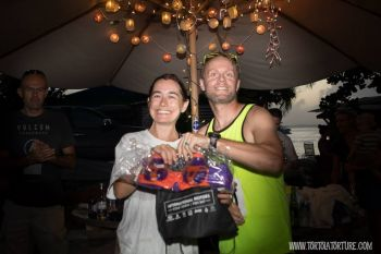 Second overall and first for women in the Ring of Fire, Maria Mays. Photo: Tortola Torture/Facebook