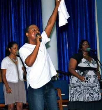 Other than being an entrepreneur and Human Resources Manager, Levor A.H. Lettsome loves singing and is an artist at the Long Look Church of God of Prophecy where he is a familiar face on stage. Photo: Provided
