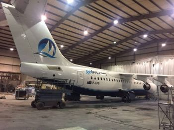 One of the planes on the BVI Airways Fleet before the airline went defunct. Photo: Facebook