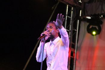 Jamaican artist Jah Cure was one of the international acts. Photo: VINO