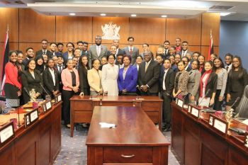 participants of the 17th National Youth Parliament in Trinidad and Tobago. Photo: HoA