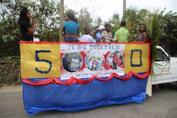Youth for Walwyn was one of the entries of the Virgin Gorda Easter Monday Parade. Photo: VINO