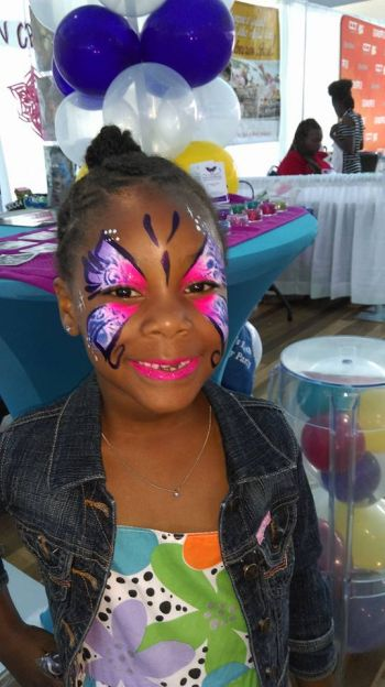 Sample of Kim's Kreations, a face and body painting business owned by Kimberly Fahie. Photo:Provided