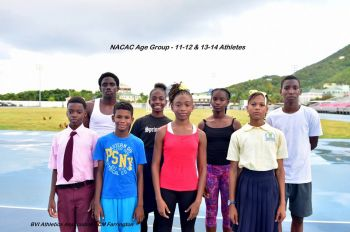 The Virgin Islands' NACAC 11-12 and 13-14 years age group athletes who competed at the Hasely Crawford Stadium in Trinidad on June 17-18, 2017. Photo: BVIAA/Facebook