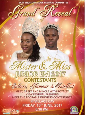 The organising committee of the Mr and Miss Junior BVI Pageants having an official reveal party today June 16, 2017 at Village Cay Hotel in Road Town at 5:30 PM. Photo: Facebook