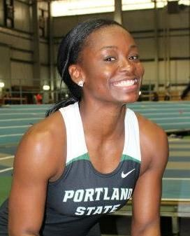 Dominique Maloney has had a fast start to her Indoor Season with good performances in the 400m and Relay events for the Portland State Vikings. Photo: Supplied