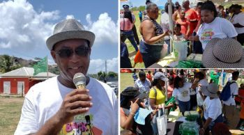 In the face of critics, Ninth District Representative and Minister for Natural Resources, Labour and Immigration Honourable Vincent O. Wheatley, left, has said the successful Back to School Kiddies Fiesta on Virgin Gorda on August 24, 2019 was not a hand out but rather a shout out of love to the children, parents and teachers of his constituency. Photo: VINO