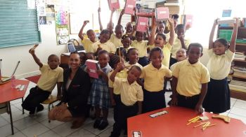 The Joyce Samuel Primary School, the Elmore Stoutt High School and the Lady Limers of Cane Garden Bay also benefited as part of this terms Back to School tour with Digicel. Photo: Digicel