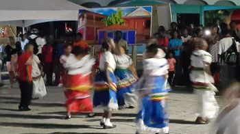 Children performing a cultural dance number. Photo: VINO