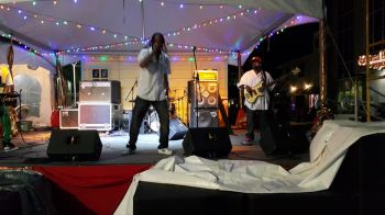 Martino Mark and the Hardcore Band performing live on stage. Photo: VINO