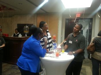 Guests mingling at last night's launch of Colonial Insurance's wellness initiative. Photo: VINO