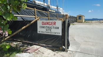 The entrance to the worksite. Photo: VINO