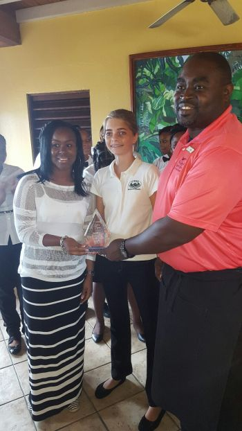Amelie Clarke of Cedar School came third in the table setting competition. Photo: VINO