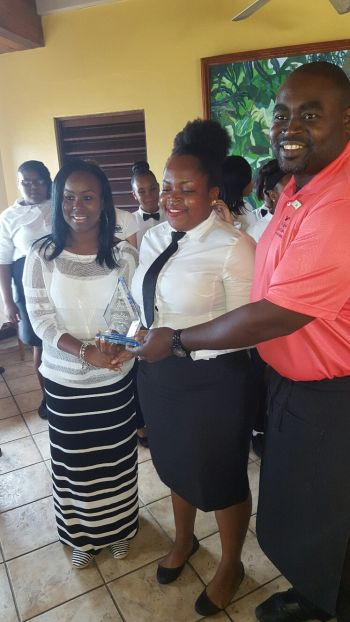 Akeema Jupiter also of the Virgin Islands Technical School came second in the table setting competition. Photo: VINO