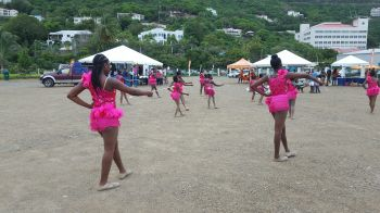 There was a dance performance by the Feteniques Majorettes which displayed their dexterity and skills. Photo: VINO