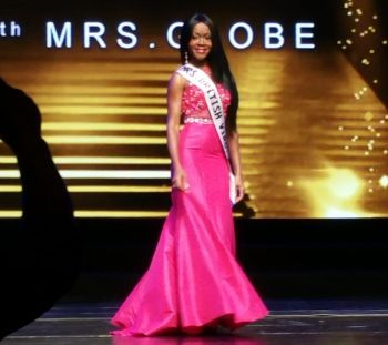 On finals night, Mrs BVI Globe Shevone A. Findlay made the semi-finals by securing a place in the top 30. Photo: Provided
