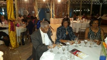 Present at the event were former Premier and Leader of the Opposition Honourable Ralph T. O'Neal OBE, and Mrs Edris O'Neal. Photo: VINO