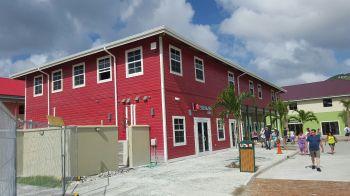 One of the Tortola Pier Park buildings. Photo: VINO