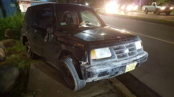 One of the vehicles involved in the accident. Photo: VINO