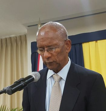 Premier Smith was speaking at a meeting entitled 'Address to Senior Managers of the Ministry of Education and Culture and Members of its Statutory Boards', held at Maria's By The Sea. Photo: VINO